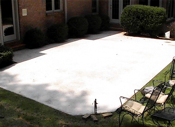 backyard cement patio ideas various design
