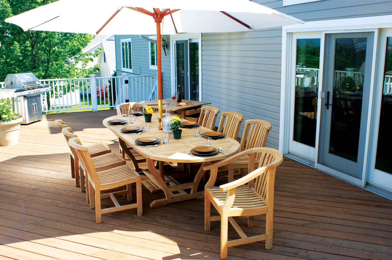 Wooden patio furniture about patio designs contemporary deck and patio ideas - Outdoor furniture design ideas ...